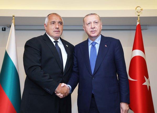 Бойко Борисов се срещна с турския президент Ердоган